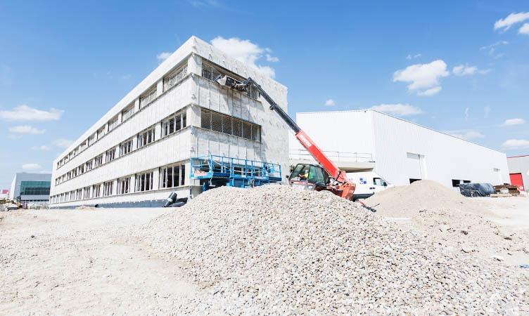 Entdecken Sie den detaillierten Baufortschritt der neuen Zentrale von Focke Meler